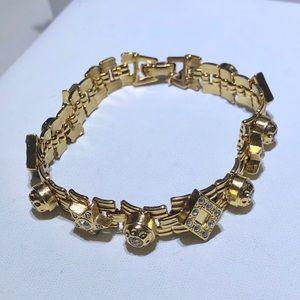 Joan Rivers rhinestone stars vintage bracelet